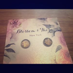 BLOSSOM & THORN 8mm Druzy Studs in Pearlescent
